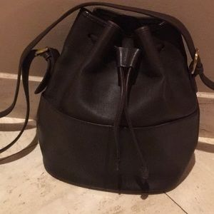 COACH CHOCOLATE BROWN LEATHER BUCKET PURSE